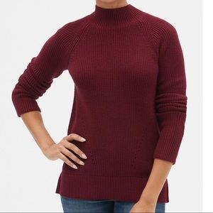 GAP textured mock neck sweater